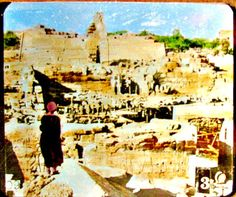Vintage Magic Lantern of Temple Ruins in Moses Day by DecadesAgo