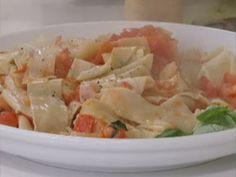 Massa fresca italiana e molho de tomate