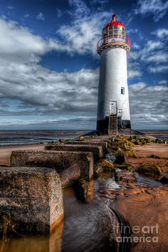 ✮ The Crooked Lighthouse at Talacre Beach, Flintshire, North Wales, UK.