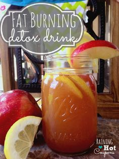 "12 oz of Water 1-2 Tablespoon Apple Cider Vinegar (I use Braggs with the ""Mother"") 1 Tablespoon fresh Lemon Juice 1 Teaspoon Cinnamon 1/2 Teaspoon sweetener (honey) Half of an apple (sliced)"