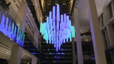 The Crystal Chandelier is a permanent kinetic light art installation for the Tsvetnoy Central Market, a new department store in central Moscow.