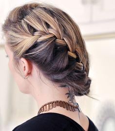 ...Learn how to do a cascading braid..via http://www.lovemaegan.com/search/label/hair%20tutorials