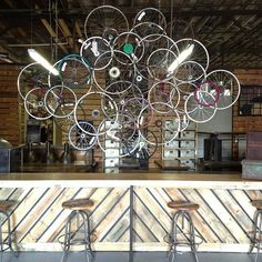 $595 Bicycle rim sculpture