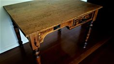 A solid pine Sheraton style desk in a really cool finish. Pine Desk, Solid Pine, 1930s, Entryway Tables, The Originals, Cool Stuff, Antiques, Furniture, Home Decor