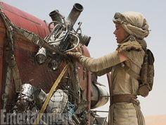 Entertainment Weekly Image of Daisy Ridley in Star Wars The Force Awakens