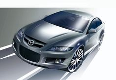 MazdaSpeed6 Mazdaspeed 6, Mazda 6, Car Sketch, Concept, American, Vehicles, Sketches, Drawings, Car