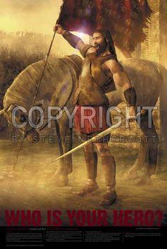 Captain Moroni Poster (#RHP-B12L) - Art & Decor on LDSArtShop.com