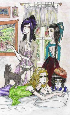 This art is titled: Brothel_babes_by_Negai_san  So of course I had to add it here just  because it is cute!