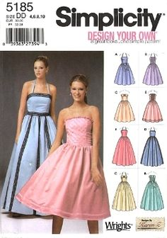 M6466 Misses' Lined Dresses and Flower - 4-6-8-10 | moreSewing ...