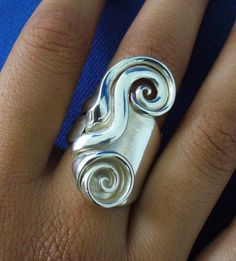 Solid Sterling Silver Real Fork Ring