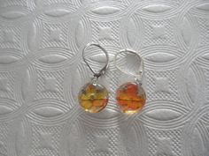 Falling Leaves-Tiny Ombre Red Yellow Orange by giftforallseasons