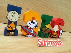 Letras 3D Snoopy/ Charlie Brown
