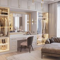 dream rooms for adults . dream rooms for women . dream rooms for couples . dream rooms for adults bedrooms . dream rooms for girls teenagers Wardrobe Room, Wardrobe Design Bedroom, Luxury Bedroom Design, Home Interior Design, Wardrobe Interior Design, Master Closet Design, Modern Luxury Bedroom, Walk In Closet Design, Master Bedroom Closet