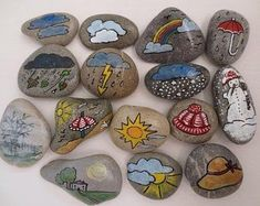 Pebble Painting, Stone Painting, Company Anniversary, Weather Stones, Guest Gifts, Fabric Bags, Easter Gift, Bunt, Hand Painted