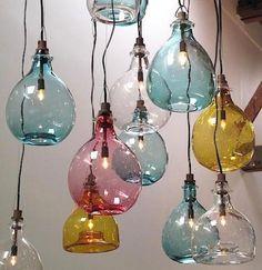 absolutely adorable ! vintage wine bottles repurposed !
