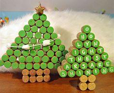 Albero di Natale con tappi di sughero n.15