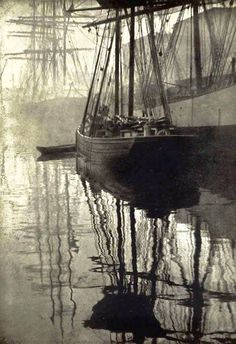 Photo by Alvin Langdon Coburn, 1908 - Spider-webs, by Alvin Langdon Coburn. Photogravure published in Camera Work, No 21, 1908