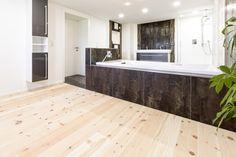 Swiss Stone Pine, brushed, white oil I Bathroom I natural wood floors I mafi.com