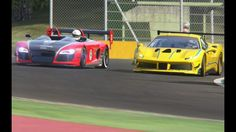 Racing Ferrari 488 Challenge vs Audi R8 Spyder GT vs Alfa Romeo 8C GT Sp...
