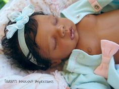 Newly Released Beautiful Reborn Preemie Biracial Ethnic AA Baby Girl Doll NR