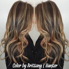 Highlights | balyage | sun kissed | blonde | LA hair | dark blonde | golden | hair by @BrittanyLynneHunter | sexy hair | Victoria's Secret | brunette | beach waves | beachy