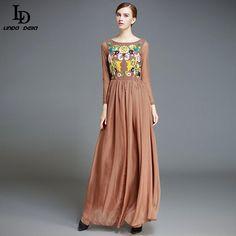 Winter Women Elegant Long Dress Patchwork Flower Floral Embroidery Party Dresses Like it? www.storeglum.com... #shop #beauty #Woman's fashion #Products
