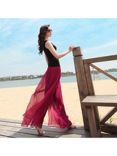 These effortless, flowing, bohemian style, maxi pants in a multitude of colors, can breathe life into your wardrobe. Easily slipped on and paired with a tank and a pair of sandals. Let the sand slip between your toes as the wind blows through the fabric and your hair on the beach. These pants are a must for #Summer.  #clothing #women