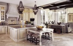 This is a kitchen in a Disney home in a development near Disney World.  Wow!
