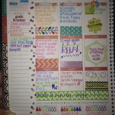 My week so far! Got some neat stickers and washi in a RAK today! 1/2 way to 200!!! #eclifeplanner14