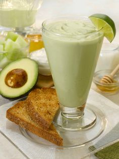 Avocado Melon Breakfast Smoothie