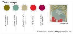Dec 2014 Color Recipe - Ripe Avocado, Ocean Tides, Kraft, Pure Poppy, Scarlet Jewel