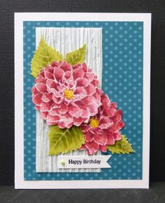 CC468  Dahlia Delight by hobbydujour - Cards and Paper Crafts at Splitcoaststampers