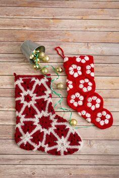Holly Jolly Stocking - I Like Crochet