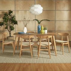 Shop for Norwegian Danish Modern Oak Tapered Dining Set iNSPIRE Q Modern. Get free delivery at Overstock.com - Your Online Furniture Shop! Get 5% in rewards with Club O! - 19785707