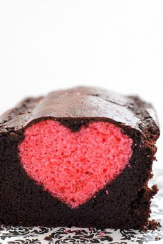 February   ❤ Sweet Life: Hidden Heart Valentine's Pound Cake #glutenfreerecipes