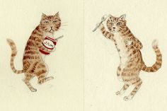 a blog of cat art and artists' cats by Mary Kilvert and Anke Weckmann