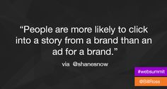 Marketing #quote shared at @billross's twitter account.