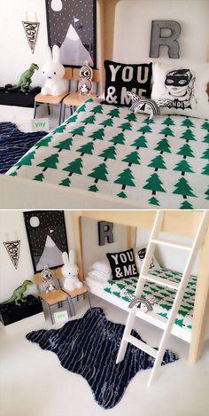 Pine greenForest blanket, you & me throw pillow, monogram letter