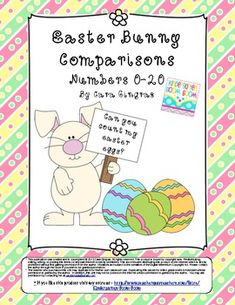 Easter Bunny Comparisons - Numbers 0-20 (Common Core) Freebie!