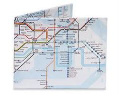 Dynomighty Men's The Underground Mighty Wallet - Super Thin Lightweight Tyvek Billfold, Blue Nyc Subway Map, Tyvek Wallet, Mighty Wallet, Best Wallet, London Underground, London Calling, Card Wallet, Travel Accessories, Stationery
