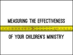 We want our ministries to be effective, don't we? But how do we measure effectiveness? Here are some practical ways. These are not blank...