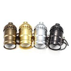 E27 Retro 110-220V Aluminum Zipper Style Light Socket Pendants For Edison Lamp