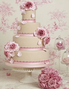 Peggy Porschen Cakes. This one in particular keeps with the vintage dusky pink theme!