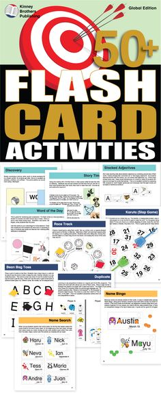 50+ Flash Card Activities is a collection of flash card activities and games you can start using in class today!  Matching, ordering, and discovery are the modals of play that will engage students, improve retention, and bring more enjoyment to repetitive practice.  Whether you're a new teacher or a veteran in the classroom, you'll appreciate having this treasury of activities close at hand!
