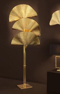 Statement floor lamps for living rooms Floor Lamp Makeover, Diy Floor Lamp, Brass Floor Lamp, Wall Clock Design, Lamp Design, Chair Design, Design Design, Design Ideas, Interior Design