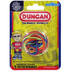 Duncan 5 Pack Multi Color Cotton Yo-Yo Strings - Mixed Colors for only $6.32