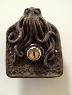 Doorbell with Glass eye by Occulence on Etsy, $40.00 #Cthulhu #octopus