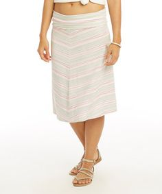 This Fatique Wave Stripe Hamilton A-Line Skirt by Carve Designs is perfect! #zulilyfinds