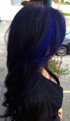 Dark electric blue highlights