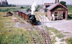 No. 4 'Edward Thomas' at Wharf station ready for the morning train in 1954.